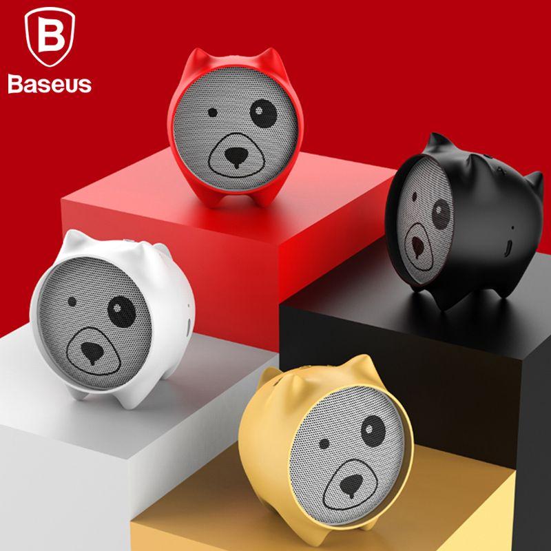 Baseus E06 Dogz Bluetooth Speaker Portable Mini Bluetooth Speaker <font><b>Gift</b></font> Speakers MP3 Music Player Stereo Sound Wireless Speaker