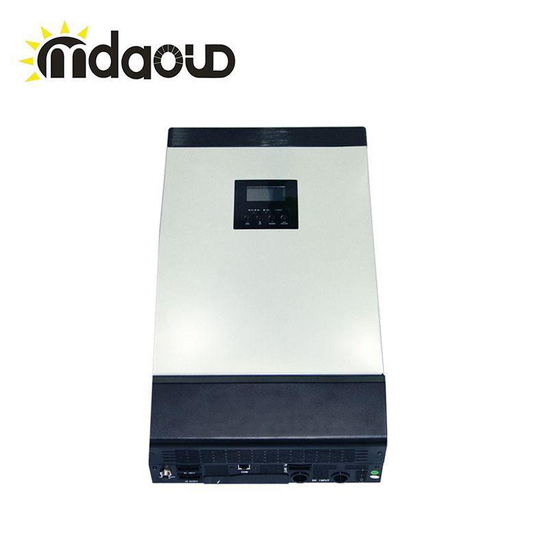 5kva SOLAR INVERTER/CONVERTER/MPPT 60a SOLAR CHARGE controller off grid hybrid type dc48v to ac 220v 230v pure sine wave