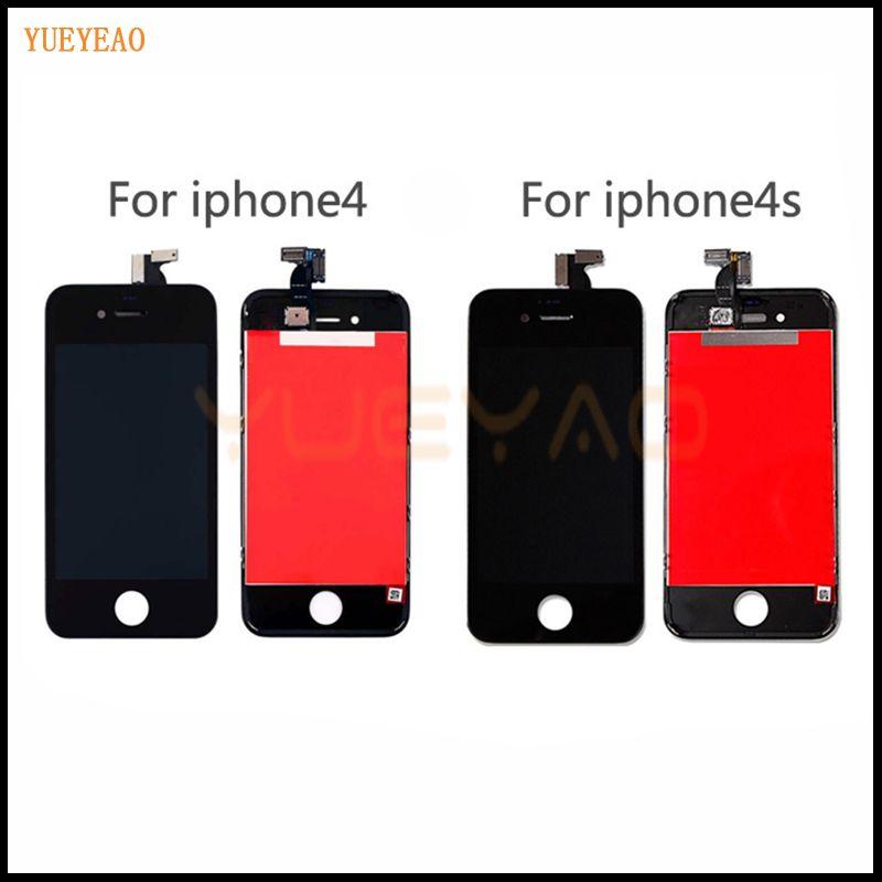 YUEYAO AAA Qualité LCD Écran Pour iPhone 4 4S 5 5S 5C Écran lcd Écran Tactile Digitizer Assemblée Remplacement Pour iPhone 5S LCD