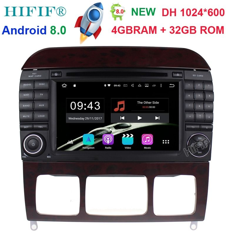 Neu 7''Car DVD GPS Player Sat Navi Android 8.0 Stereo For Mercedes Benz S-Class W220 W215 S280 S320 S400 S500 4GB RAM 32GB ROM