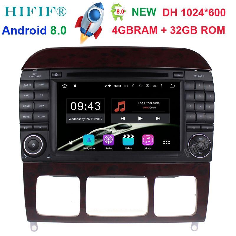 Neu 7''Car DVD GPS Player Sat Navi Android 8.0 Stereo For Mercedes Benz S-Class W220 W215 S280 S320 S400 S500 4GB RAM 32GB ROM