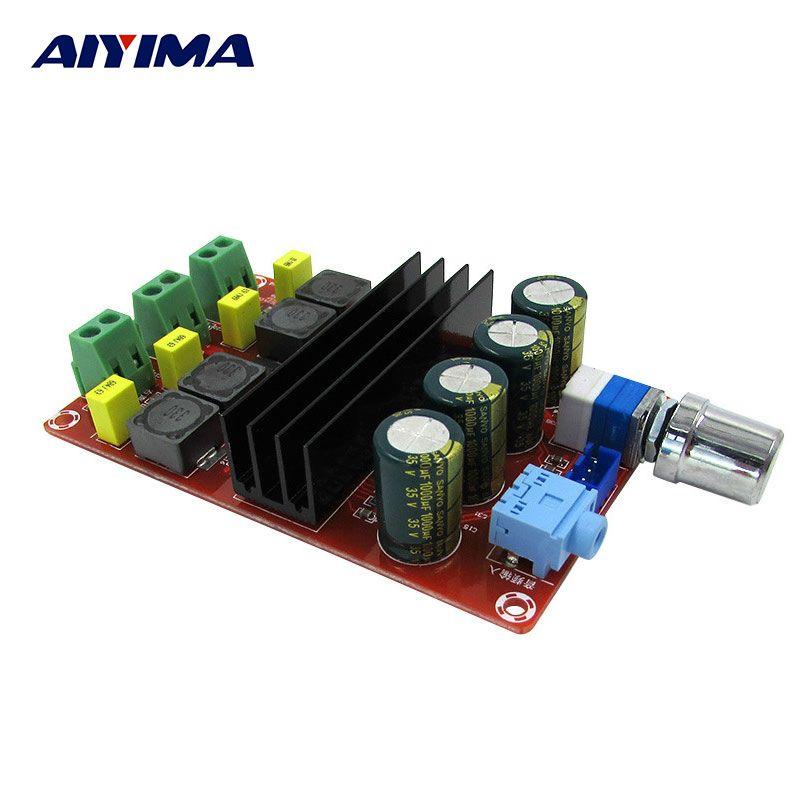 Aiyima трубки Цифровой Усилители домашние звуковой платы TPA3116 Мощность Аудио AMP 2.0 класса D Усилители стерео HiFi Усилители домашние DC12-24V 2*100 Вт