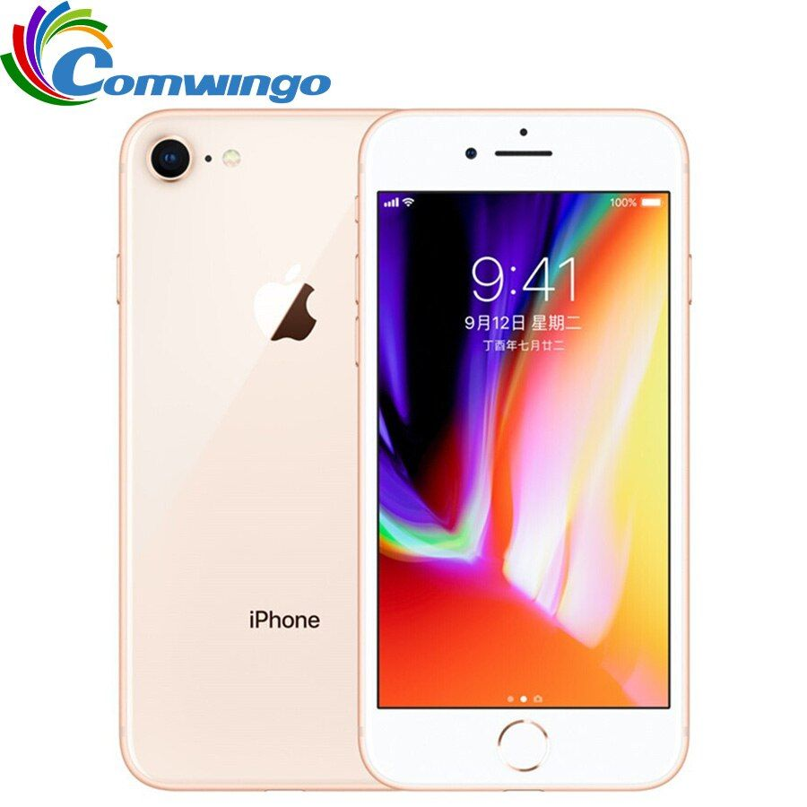 Original Entsperrt Apple iphone 8 RAM 2 GB ROM 64 GB 4,7 zoll Hexa Core 12MP 1821 mAh iOS 11 LTE Fingerabdruck Handy iphone8