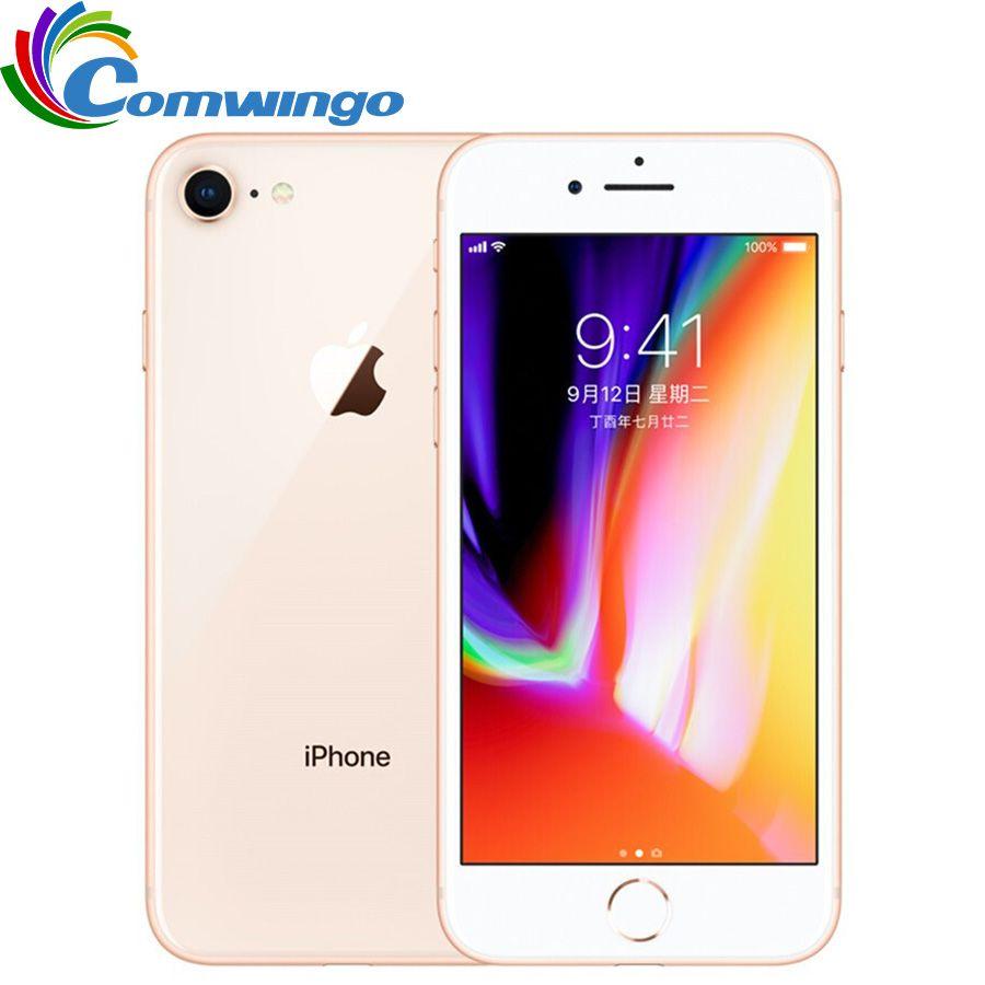 Original Entsperrt Apple iphone 8 RAM 2 GB ROM 64 GB 4,7 zoll Hexa Core 12MP 1821 mAh iOS 11 LTE Fingerabdruck Handy iphone8