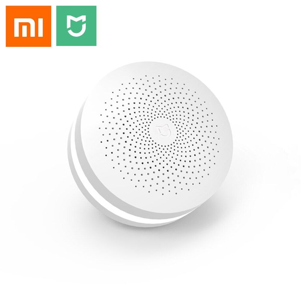 Update Version Original Xiaomi Mijia Smart Home Multifunctional Gateway 2 Alarm System Intelligent Online Radio Night Light Bell