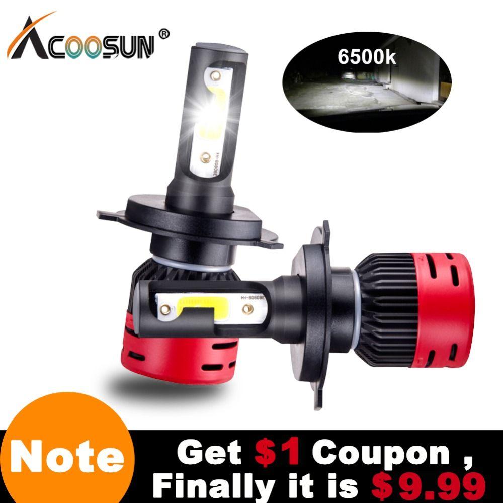 Mini H7 Led Bulb H4 Led Car Headlight 12V 72W 8000LM H1 H3 H8 H9 H11 LED Car Lights 6500K 9005 9006 9012 COB Chips Led Lamp Auto