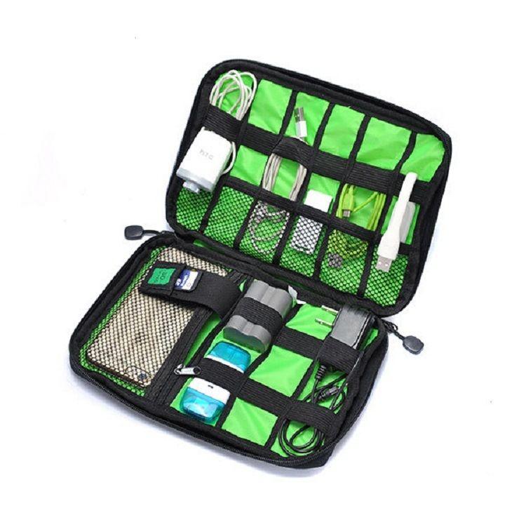 Neue Elektronische Zubehör Reisetasche Nylon Herren Reiseveranstalter Für Datumsgrenze Sd-karte USB Kabel Digitalgerät Tasche