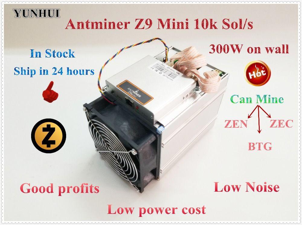 Ship in 24 hours New ZCASH Miner BITMAIN Antminer Z9 Mini 10k Sol/s Equihash ZEN ZEC BTG Miner Better Than S9 S9i A9 Z9