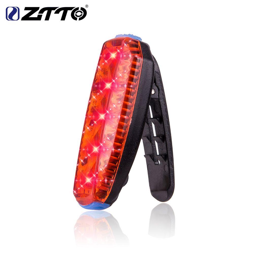 ZTTO USB li-po Batterie Rechargeable Route Vélo De Montagne Vélo Clip Étanche Avertissement de Sécurité Arrière Feu Arrière Running Light WR03