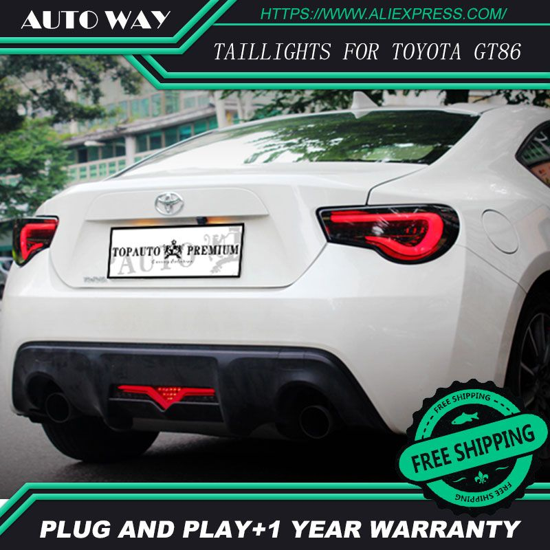 Car Styling tail lights case for Toyota GT86 Toyota 86 Toyota86 taillights LED Tail Lamp rear trunk lamp cover