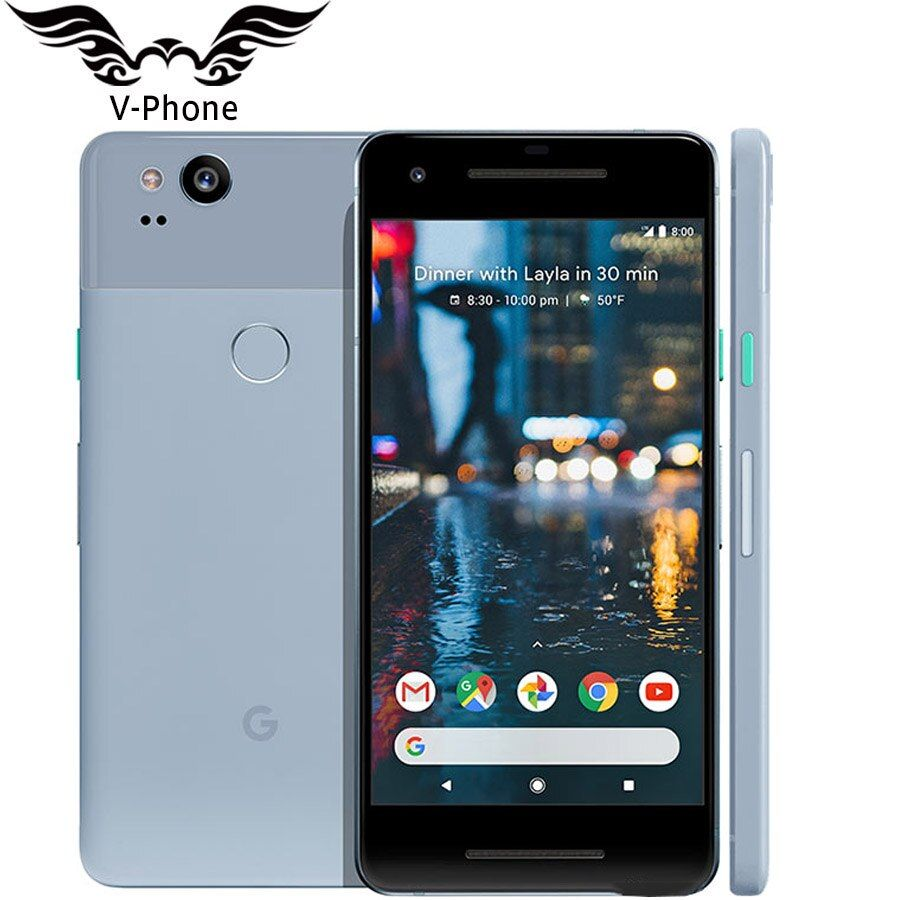 Original Marke NEUE UNS Version Google Pixel 2 4g LTE 64 gb 128 gb 5,0 ''Snapdragon 835 Octa core Fingerprint Android handy