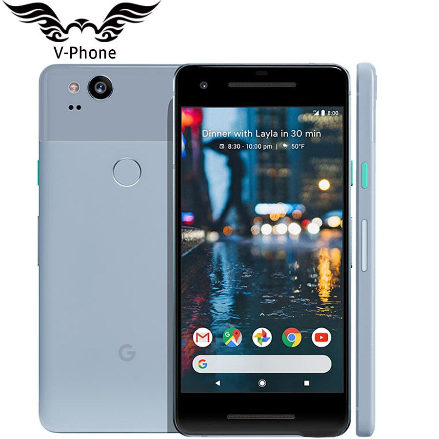 Original Brand NEW US Version Google Pixel 2 4G LTE 64GB 128GB 5.0'' Snapdragon 835 Octa Core Fingerprint Android Mobile phone