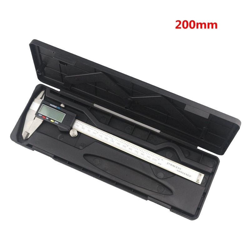 0.01mm Accuracy LCD Digital Vernier Caliper 200mm 8inch Diagnostic-tool Stainless Steel Calipers with Case