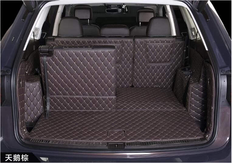 Full Rear Trunk Tray Liner Cargo Mat Floor Protector foot pad mats for 17 18 Volkswagen VW Atlas 2017 2018 6/7 seat (6colors)