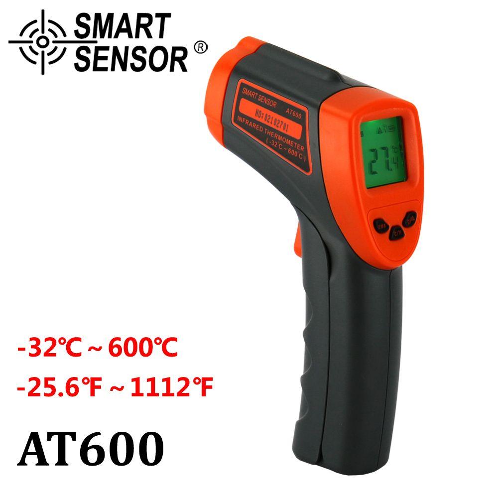 Thermomètre infrarouge numérique-32 ~ 600 C sans Contact laser IR température pistolet pyromètre mètre Aquarium émissivité réglable