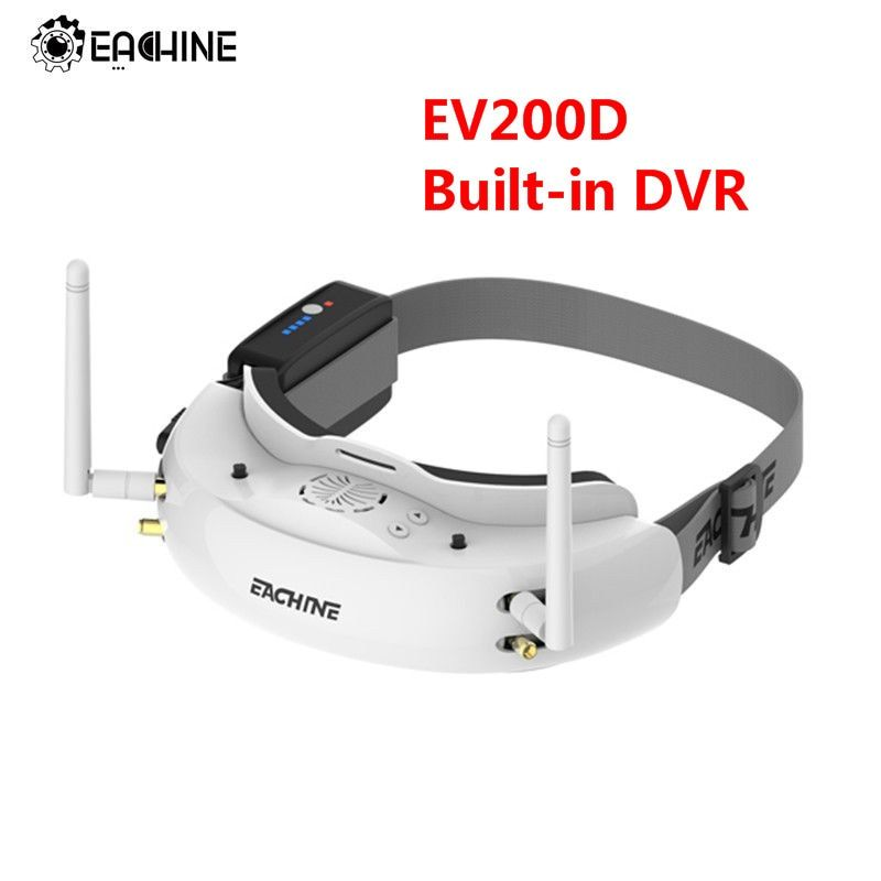 Eachine EV200D 1280*720 5.8G 72CH True Diversity FPV Goggles HD Port in 2D/3D Built-in DVR For RC Racing FPV Drone Part
