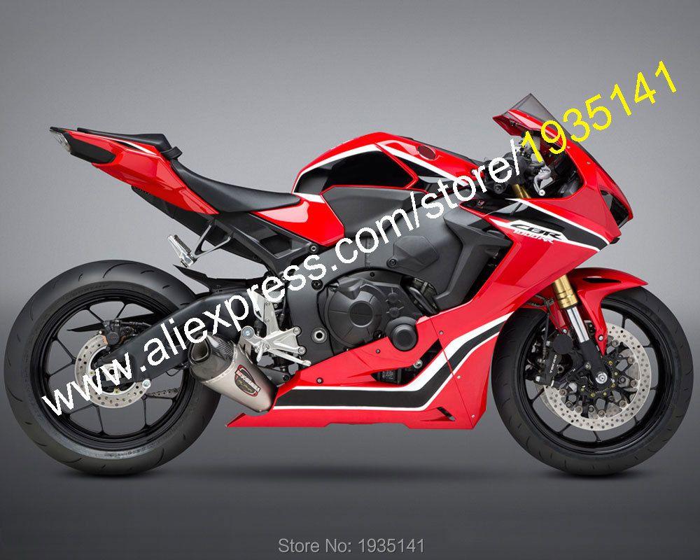 Heiße Verkäufe, für Honda CBR1000RR Fireblade 2017 2018 Körper Kit CBR CBR1000 RR Schwarz Rot Weiß Sportbike Verkleidung (spritzguss)