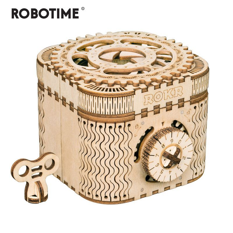 Robotime Creative DIY 3D Treasure Box&Calendar Wooden Puzzle Game Assembly Toy Gift for Children Teens Adult LK502