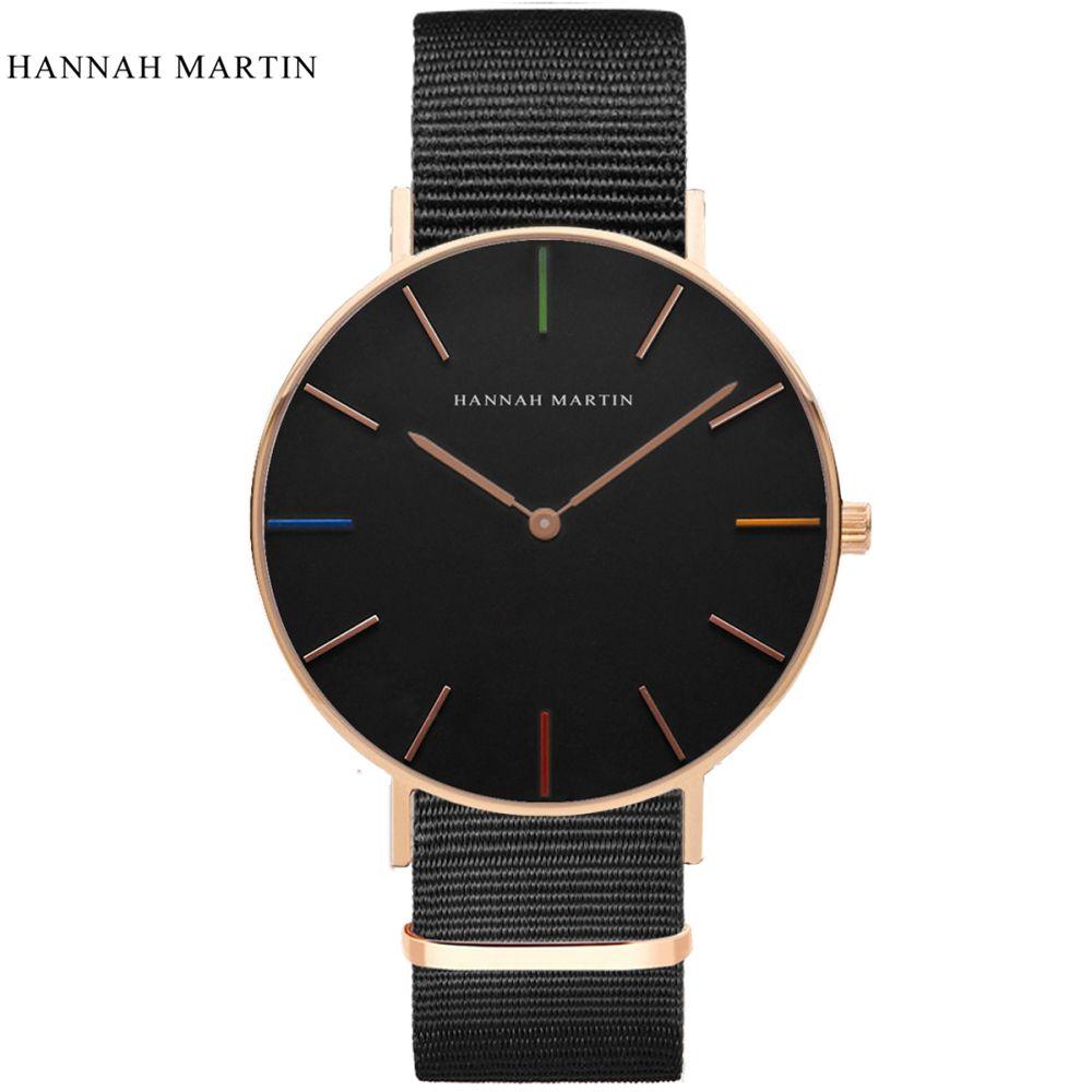 Hannah Martin Montre Hommes Montre Mode Hommes Montres Top Marque De Luxe Montre-Bracelet des Hommes Horloge erkek kol saati orologio uomo