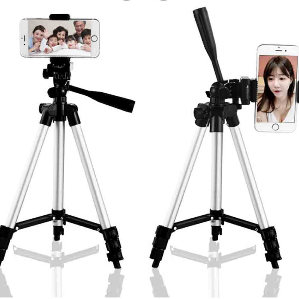 KIDNIU Phone Tripod Universal Tripod 4 Sections Lightweight Portable Tripod For iPhone Samsung Cell Phone Compact Camera
