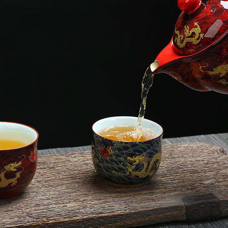 Chine Kung Fu tasse En Céramique, Chinois Royal dragon motif tasse de thé, Chinois style porcelaine thé ensemble café tasses
