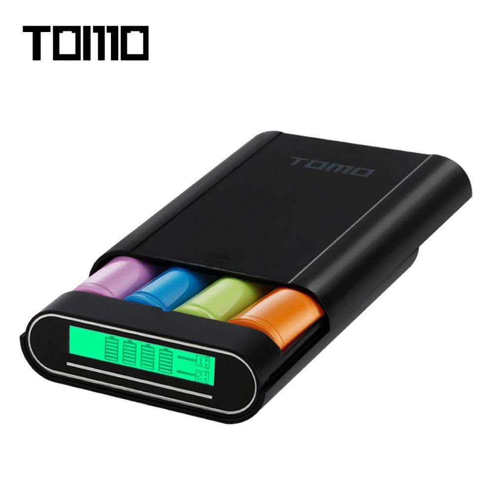 TOMO M4 DIY Smart 4x18650 Li-Ion Ladegerät Dual-use-Externe Bewegliche Energienbank Batterie Aufbewahrungsbox mit LCD-Display