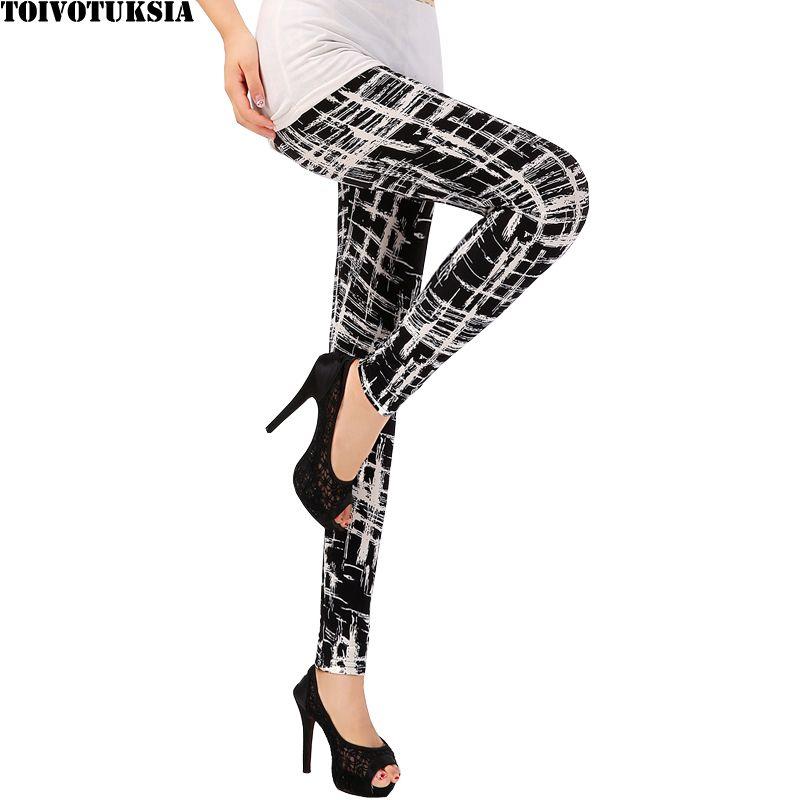 Toivotuksia Для женщин Леггинсы для женщин Pantalones Black Milk печати Леггинсы для женщин Летний стиль мягкая кожа Материал девять Для женщин леггинсы
