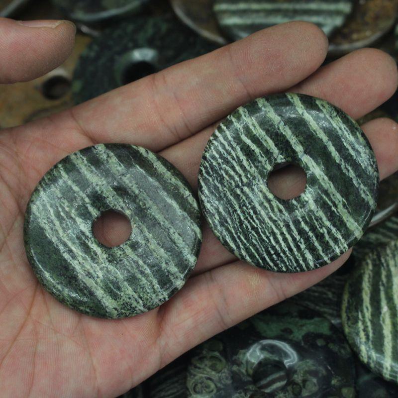 50mm donut forma natural zebra GEM beads jaspers cuentas de piedra natural perlas sueltas DIY para la joyería que hace el envío gratuito venta al por mayor
