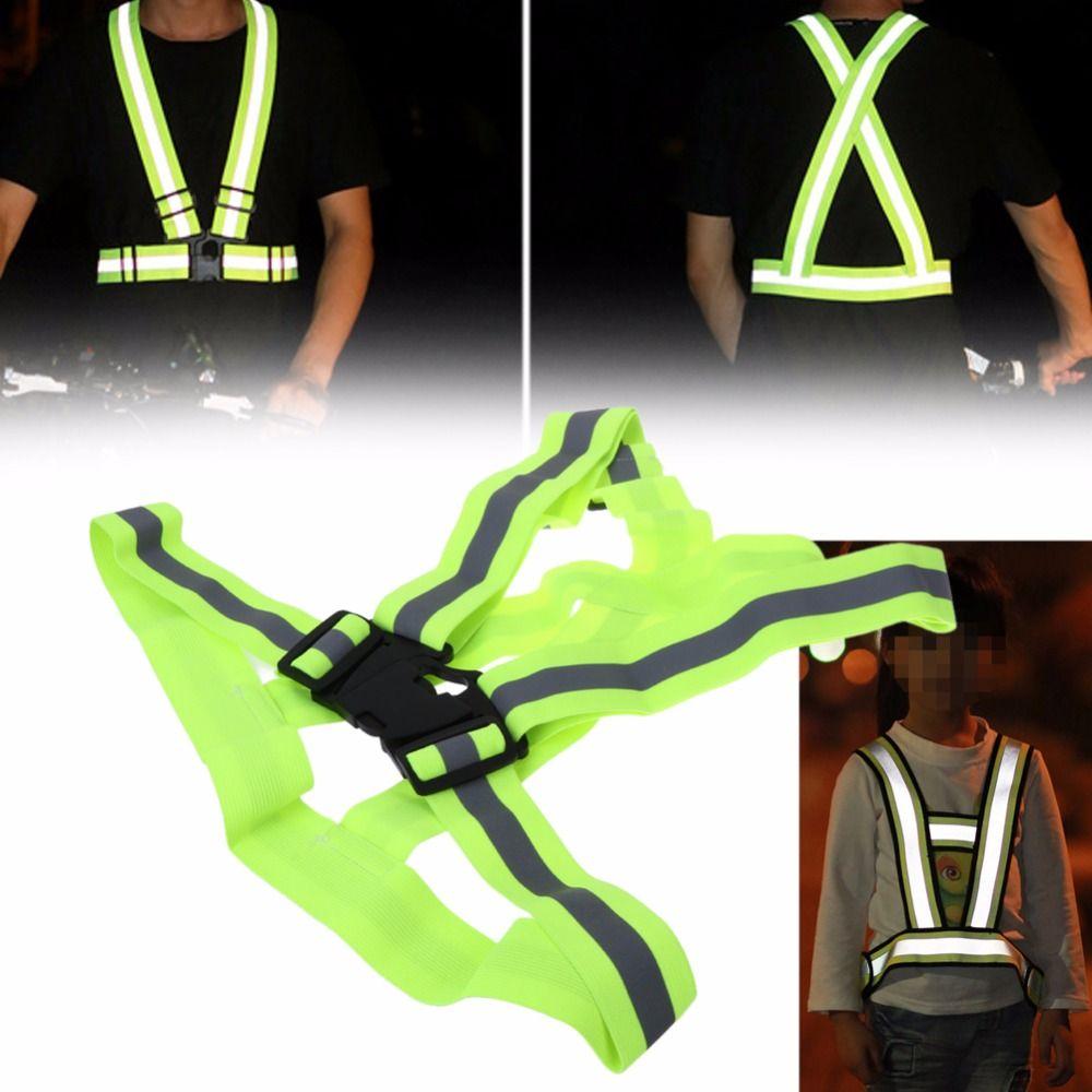 Sicherheit Hohe Sichtbarkeit Reflektierende Weste Getriebe Streifen Jacke für Mädchen/Jungen Wandern Radfahren Reiten Outdoor-Sport Nachtfahrten