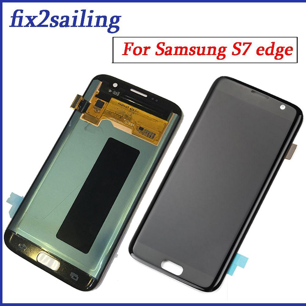 Für Samsung Galaxy S7 Rand lcd screen display touch G935F G935A G935FD G935P montage ersatz 100% Getestet arbeits digitizer