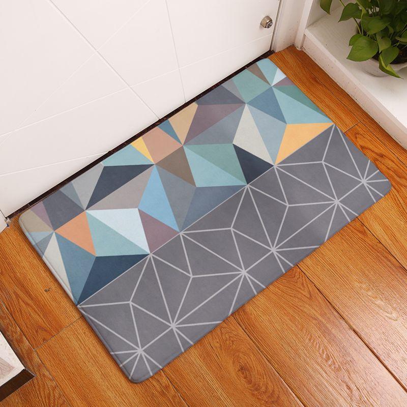 2017 Nouveau Style De Mode Creative Tapis Lavable Modren Géométrie Carpet Tapis Chambre Non-Glissement Tapis De Sol tapis pour salon