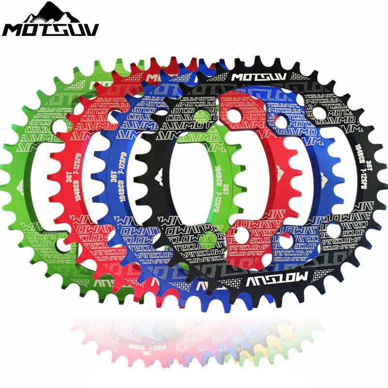 MOTSUV vélo rond ovale chaîne roue manivelle 32-38 T 104BCD vélo manivelle et roue à chaîne étroite large pédalier roue à chaîne pièces de vélo