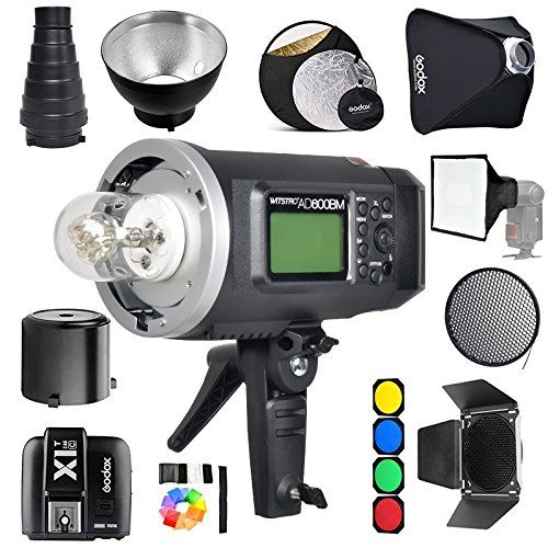 Godox AD600BM Bowens Mount 600Ws GN87 1/8000 HSS Outdoor Flash Strobe Monolight with X1T Wireless Trigger/ 32