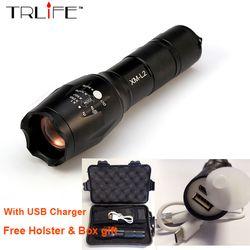 USB linterna 8000 lúmenes Lanterna X900 LED CREE XML-L2/T6 táctica Zoomable recargable de alta potencia Led linternas lámpara