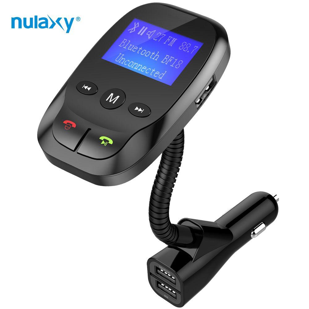 Nulaxy FM Transmetteur Voiture Mp3 Lecteur Bluetooth Mains Libres Voiture Kit Mp3 FM Modulateur Double USB Chargeurs De Voiture Auto sommeil Power On/Off