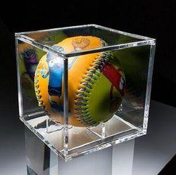 8 см Акриловая бейсбольная коробка, сопутствующий дисплей, Теннисный Прозрачный чехол для мяча, Сувенирная Коробка для хранения, держатель, ...