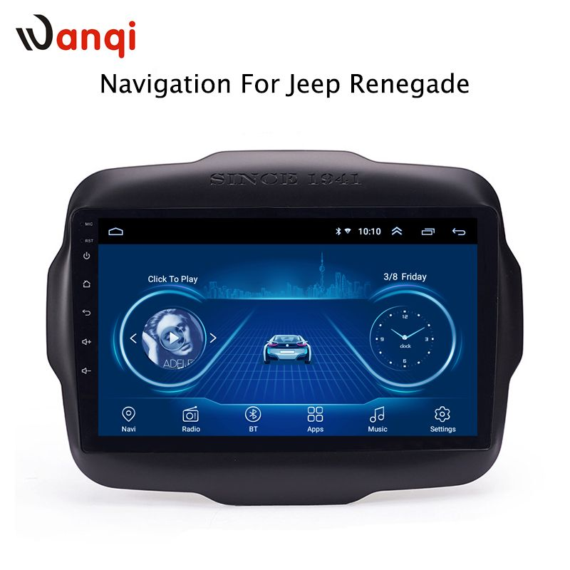9 zoll Android 8.1 volle touchscreen auto multimedia-system für Jeep Renegade 2016-2018 auto gps radio navigation
