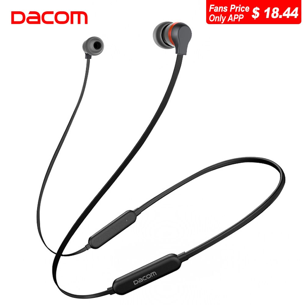 Dacom L06 Wireless Headphones Bluetooth Earphone 2018 Sports Stereo Bass in-Ear Earbuds Earphones Headset with Mic for Phone TV