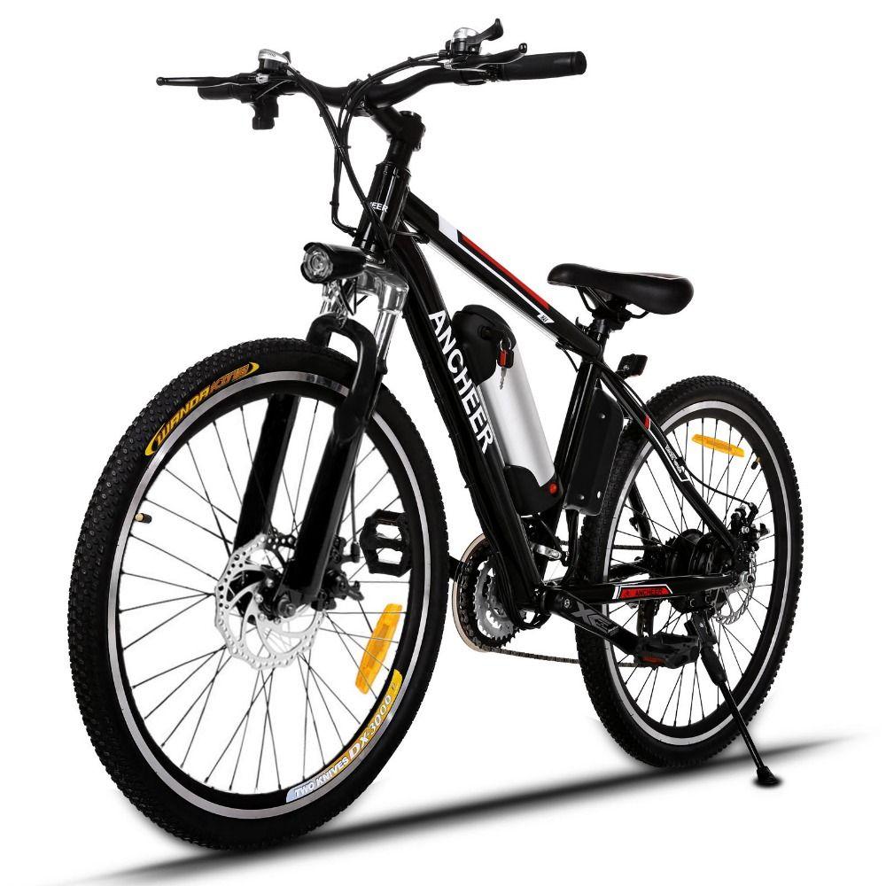New 26 Inch Electric Bike Brushless Bicicleta Electrica Black Velo Electrique Ebike Mountain Electric Bicycle EU/UK Plug