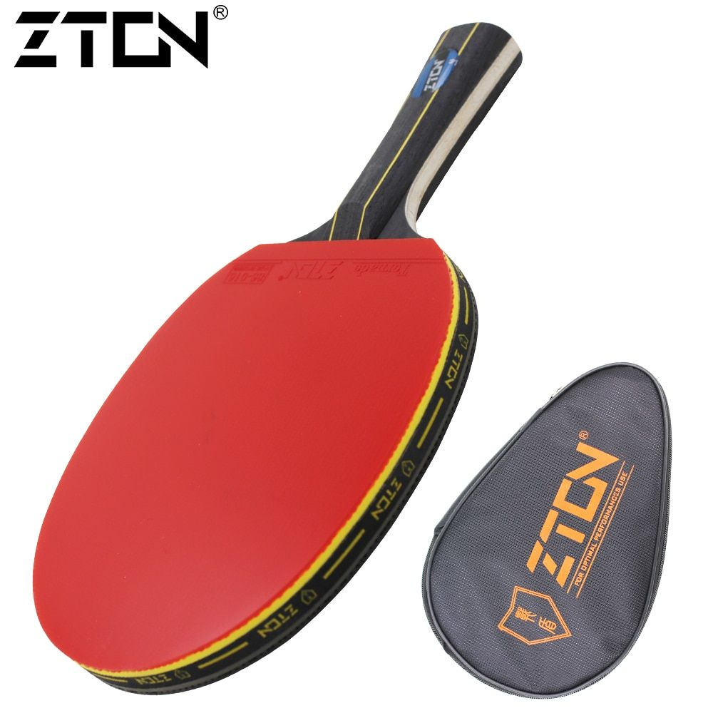 <font><b>Table</b></font> tennis racket Double pimples-in rubber Ping Pong Racket fast attack and loops or chop type player