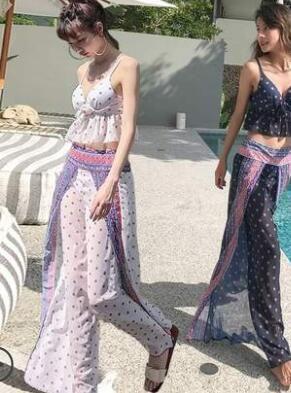 2018 56 md 23 handmade crochet bikini bandeau bow halter swimwear women Floral bottom swimsuit hot summer