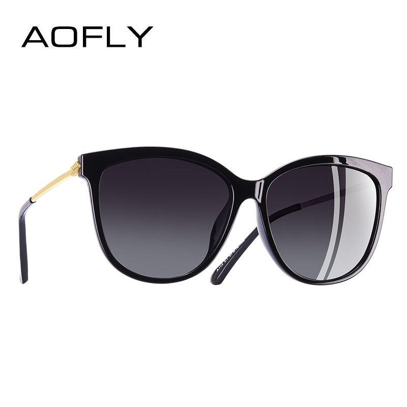 AOFLY MARKE DESIGN Neue Mode Sonnenbrille Frauen Katze Auge Polarisierte Sonnenbrille Brille Oculos De Sol UV400 A114