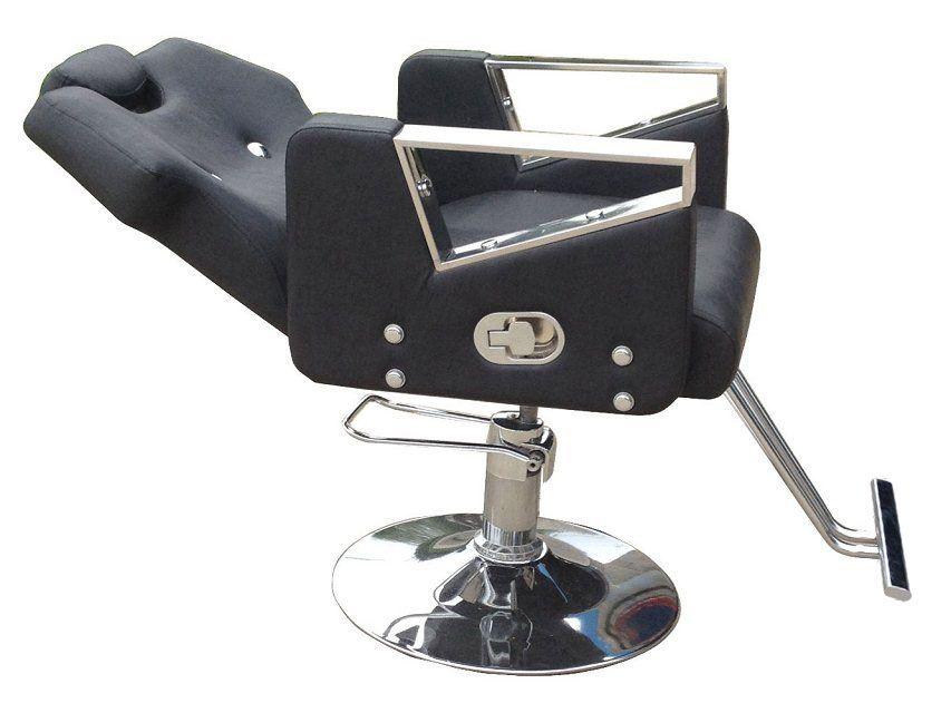 Hairdressing chair. Razor shaving chair..