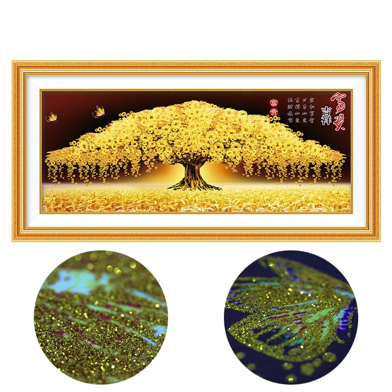 Platinum Diamond painting cross stitch special shaped diamond embroidery 5d mosaic pattern Lucky Tree wall sticker decor newest