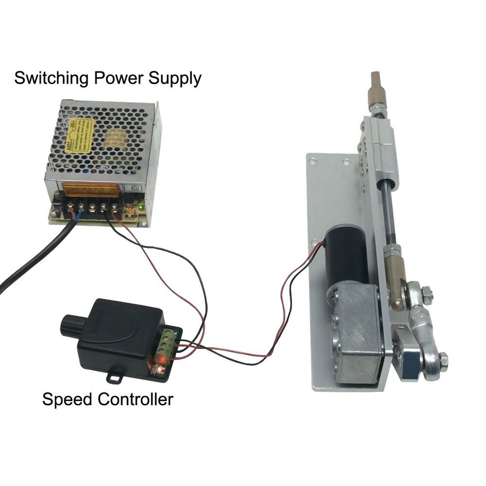 DIY Design DC 12V Linear Actuator Reciprocating Motor Stroke 30/50/70mm+Switching Power Supply 110V-240V+PWM Speed Controller