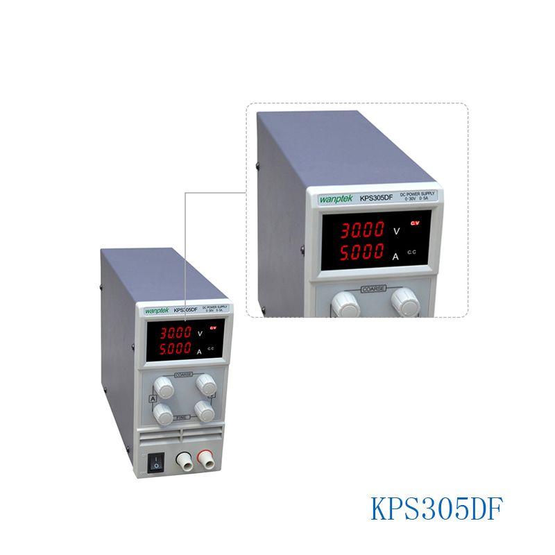 KPS305DF 0-30 V/0-5A 110 V-230 V 0.1 V/0.001A EU LED commutateur réglable numérique alimentation cc affichage mA