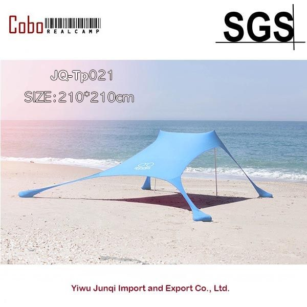Portable Pergola Windproof Beach Sunshade and Gazebo Tent - 210 X 210 - with Sand Anchors. Perfect Canopy Sun Shade Shelter