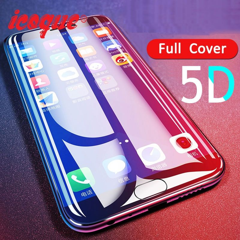 for 5D Xiaomi Redmi 5 plus Glass Full Cover 9H Film for Screen Protector Xiomi Xiaomi Redmi Note 4x 5a 5 Mi6 A1 Tempered Glass