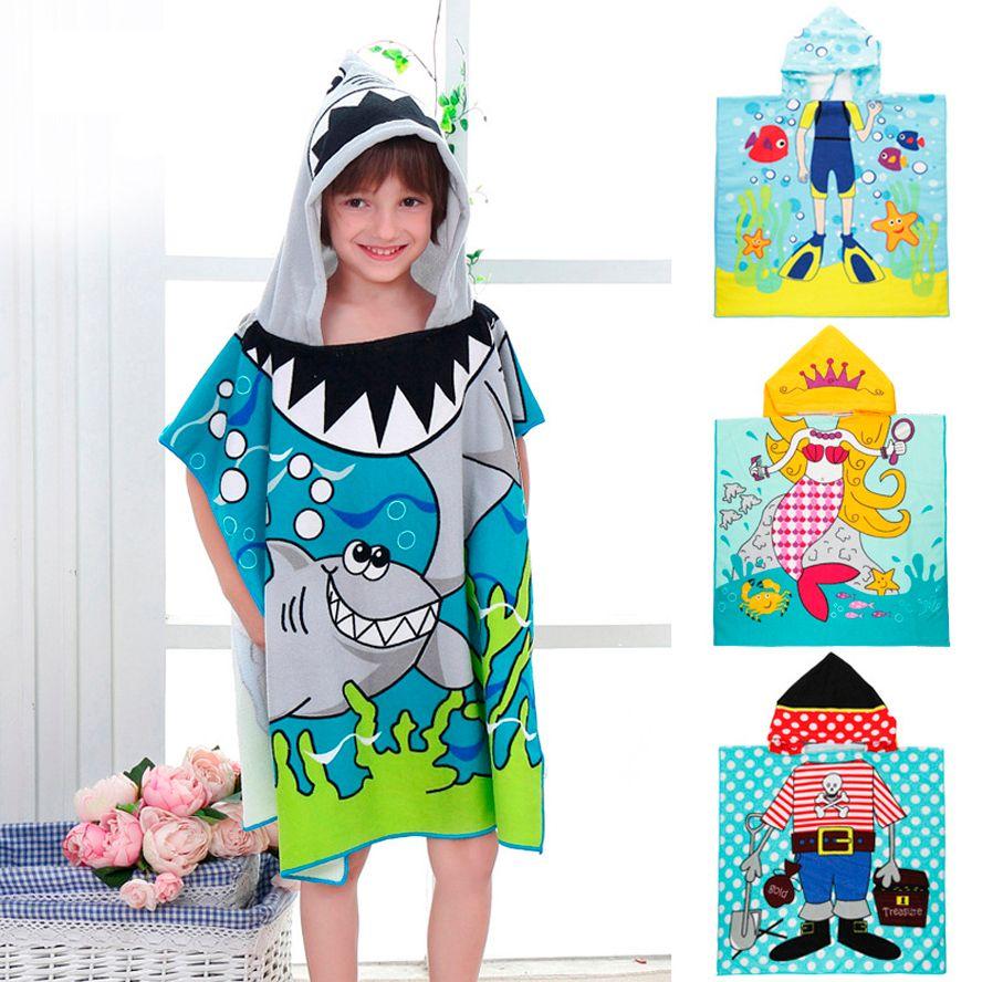 Taille 90*60 CM Enfants de Bande Dessinée Bébé cape de bain Peignoir En Coton Terry Infantile Bain D'enfants Enveloppe Bébé Enfants Cadeaux BCS0004