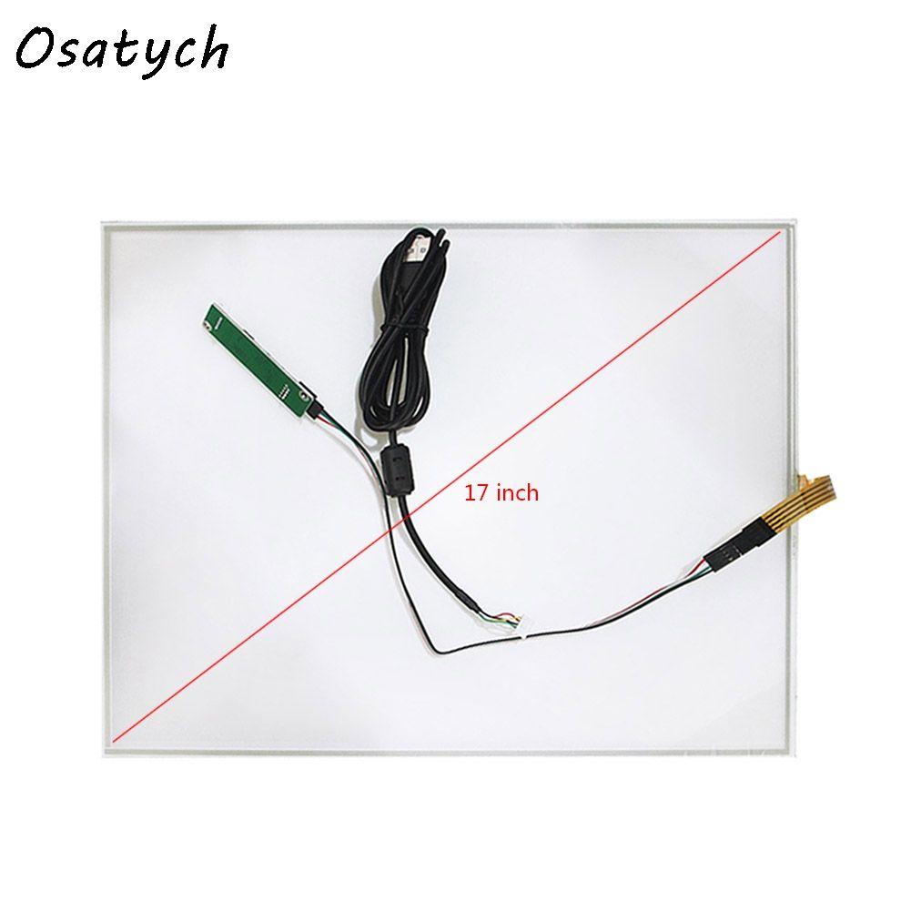 17 Zoll umfasst USB Controller Resistiven Touchscreen-panel 4 Draht USB Touch Panel Kit 355mm * 288mm 288mm x 355mm Resistiven